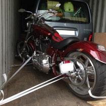 transport de moto par conteneur de groupage Réunion