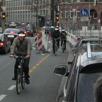 Gefährlich: Radelnde Geisterfahrer Admiralstraße