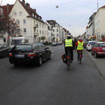 Münchener Straße - hier müssen Schutzstreifen her