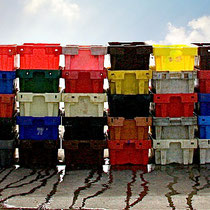 Fish Crates, Wexford Quay, Ireland - Photograph - Lightfast Pigment Inks on Acid Free Paper