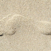 Footprint at Curracloe Beach, Wexford, Ireland - Photograph - Lightfast Pigment Inks on Acid Free Paper.