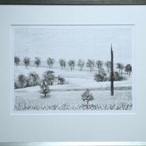 Winterzeit I  I  Lithographie, limitierte Ausgabe 2/7, im Rahmen 60 x 49,5 cm I Preis: 400,- €