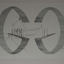 GRIMM-IQ I Tusche auf Aquarellpapier, im Paspartout 50 x 60 cm I Preis: 1200,- €