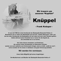 Nachruf Frank Knäuper