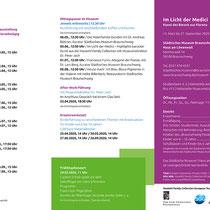 """Städtisches Museum Braunschweig / Ausstellung """"Im Licht der Medici"""" Programm-Flyer"""