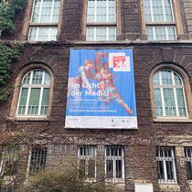 """Städtisches Museum Braunschweig / Ausstellung """"Im Licht der Medici"""" Fassadenbanner"""