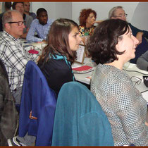 Attentive members & guests