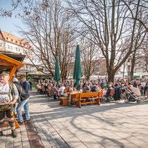 Viktualienmarkt Munich's fresh Food Market and Beer Garden