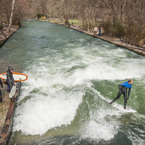 Eisbach, Munich's River Surfers