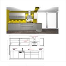 Grundriss Küchenplan