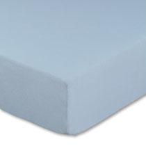 Spannbettlaken für Kinderbetten in Farbe hellblau, Größe 60x120 cm bis 70x140 cm