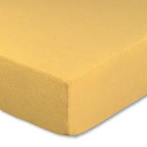 Spannbettlaken für Kinderbetten in Farbe maisgelb, Größe 60x120 cm bis 70x140 cm