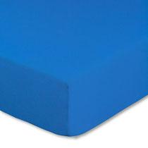 Spannbettlaken für Kinderbetten, Farbe royalblau, Größe 60x120 cm bis 70x140 cm