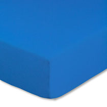 Spannbettlaken für Kinderbetten in Farbe royalblau, Größe 60x120 cm bis 70x140 cm