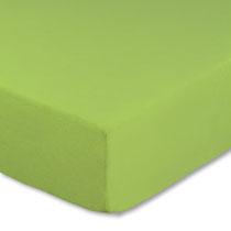 Spannbettlaken für Kinderbetten in Farbe apfelgrün, Größe 60x120 cm bis 70x140 cm