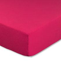 Spannbettlaken für Kinderbetten in Farbe pink / magenta, Größe 60x120 cm bis 70x140 cm