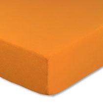 Spannbettlaken für Kinderbetten, Farbe orange, Größe 60x120 cm bis 70x140 cm