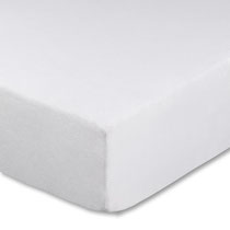 Spannbettlaken für Kinderbetten, Farbe weiß, Größe 60x120 cm bis 70x140 cm