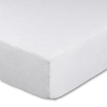 Spannbettlaken für Kinderbetten in Farbe weiß, Größe 60x120 cm bis 70x140 cm