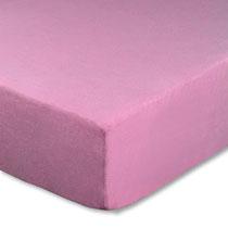 Spannbettlaken für Kinderbetten in Farbe rosa, Größe 60x120 cm bis 70x140 cm