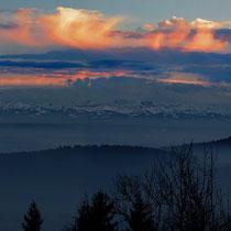 BRM 300: Blick vom Hegau in die Alpen