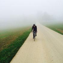 BRM 200: Nebel kann uns nicht aufhalten bei der Erkundung der 200er Brevetstrecke (Herbst 2014)