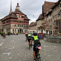 Das mittelalterliche Juwel Stein am Rhein kurz nach dem Start