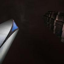 Vistas de la SWFC y la Jinmao de Shanghai