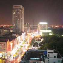 Jiaxing de noche, China