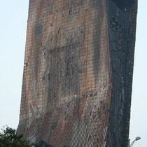 Hotel de la tv de China, Pekin. Ardio en la celebracion del año chino 2009