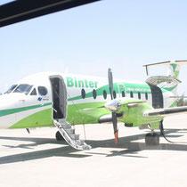 Aviones de la Binter. La Palma