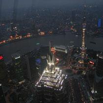 Vistas desde la SWFC de Shanghai