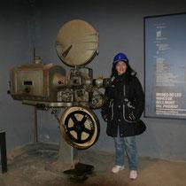 Mina del Priorat, Tarragona. Maquina de cine original.