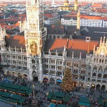 Plaza de Munich en navidad.