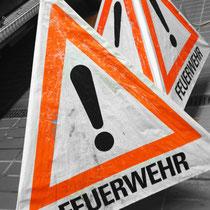 Monatsdienst Feuerwehr Soderstorf, März 2019, Absicherung der Unfallstelle, Faltsignal