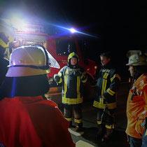 Monatsdienst Feuerwehr Soderstorf, März 2019, Absicherung der Unfallstelle, Nachbesprechung