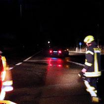 Monatsdienst Feuerwehr Soderstorf, März 2019, Absicherung der Unfallstelle