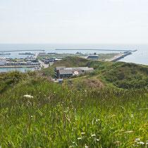 Überblick über das Unterland von Helgoland