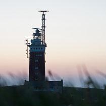 Helgoland, Leuchtturm nach Sonnenuntergang