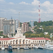 Hafen, Sochi, Russland