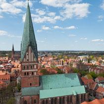 Blick vom Wasserturm - Lüneburg -  St. Johannis
