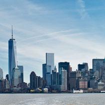 Panorama Manhattan - sicht von Ellis Island