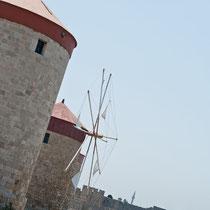 3 Windmühlen, Rhodos, Griechenland