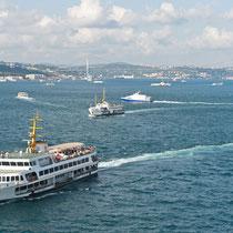 Ausfahrt Istanbul, Bosporus, Türkei