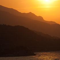 Sonnenuntergang, Samos, Griechenland