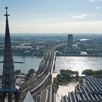 Köln - Blick vom Kölner Dom - Rhein
