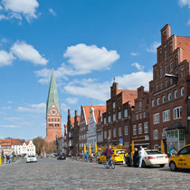Am Sande - Lüneburg - Blick Richtung Osten