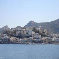 Naxos-Stadt in Sicht