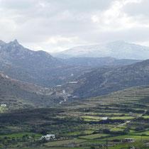 .. und auf die Berge.