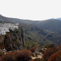 Folegandros: Blick auf das Kastro